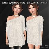 [ SAKIDE ] Irish Dropshoulder Pull White