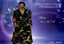 ~Group Gift~ Boo! Men's Mesh Halloween Robe