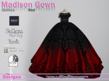 Madison Gown Gothica Red