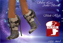 Silver Lace Slink High Ankle Boots