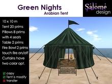 Arabian Tent - Green Nights