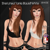 [ SAKIDE ] Stretched Tanks Black/White