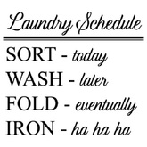 {Q-Essentials} Laundry Schedule Wall Decal