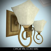 Opaque Wall Sconce Brass