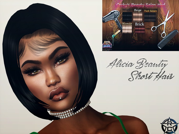 {RC}Alicia Beauty Short Hair Hud