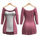 Blueberry - Mili Cardigan - Maitreya, Belleza (All), Slink Physique Hourglass - ( Mesh ) - Pink