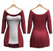 Blueberry - Mili Cardigan - Maitreya, Belleza (All), Slink Physique Hourglass - ( Mesh ) - Red