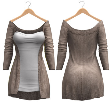 Blueberry - Mili Cardigan - Maitreya, Belleza (All), Slink Physique Hourglass - ( Mesh ) - {Extra 11}
