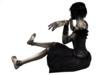 Black doll sitting pic5