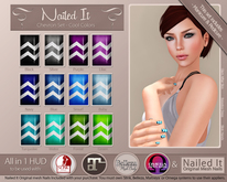 *DOLLARBIE* Nailed It - All in One HUD - Chevron Set Cool Colors