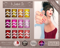 *DOLLARBIE* Nailed It - All in One HUD - Chevron Set Warm Colors