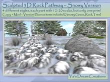 *Ya's* Snowy Pathway - sculpted / Copy+Mod ( Box)