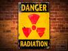 DANGER RADIATION Weathered Metal Sign POSTER