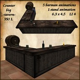 Tavern Counter, with 5 barman animation