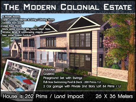 Modern Colonial Estate (Package)