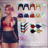 Decoy - Dragon Temptress Gacha: #17 Wings Navy {Gacha}