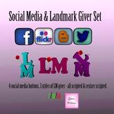 {.Gross Princess.} Social Media & Landmark Giver Set