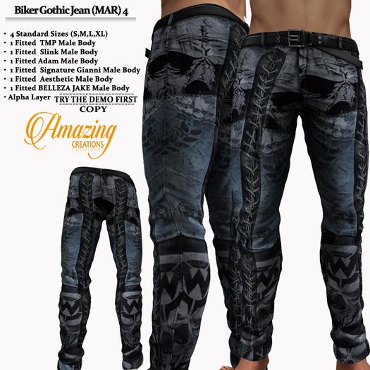 AmAzINg CrEaTiOnS Biker Gothic Jean (MAR) 4 Promo price!
