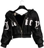 .:villena:. - Velour Jacket - Black