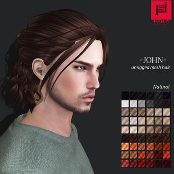 -FABIA- Mesh Hair  <John> Natural Tones