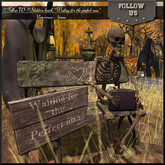 48H Special price Halloween !! Follow US !! Skeleton bench (waiting man) COPY version