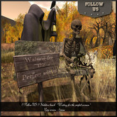 48H Special price Halloween !! Follow US !! Skeleton bench (waiting woman) COPY version