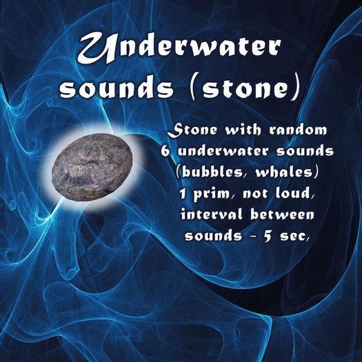 Underwater sound stone