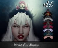 W:6 skull Roses Headpiece