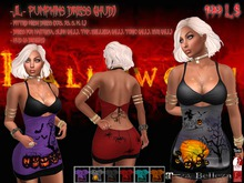 -JL- Pumpkins Dress (HUD) for Maitreya, Slink (all), Belleza (all), TMP, Tonic (all), EVE (all)