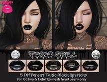 [POUT!] Toxic Spill Black Lipstick- CATWA & LELUTKA (Wear me)