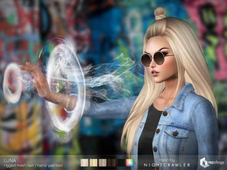 rezology Luna (Bento RIGGED mesh hair) NC - 934 complexity