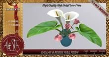 ALESTA << Mesh Calla and Rose Flowers Full Perm