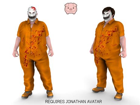 piggu Jonathan's Escapee Costume