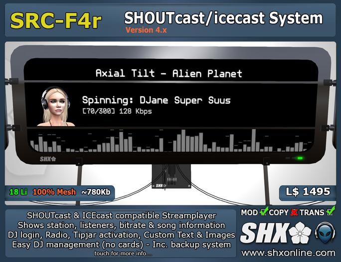SHX SHOUTcast board Club & DJ system SRC-F4r