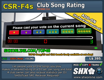 SHX-CSR-F4s - Club Song Rating