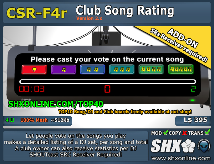 SHX-CSR-F4r - Club Song Rating