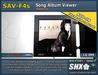 CD Cover & Album Song viewer SHX-SAV-F4s