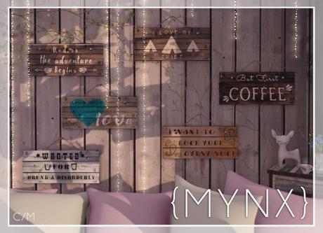 {MYNX} Wood Signs - FatPack