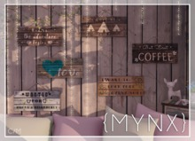 {MYNX} Wood Signs - *HUD* FatPack