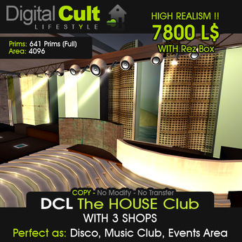 DCL Minimal HOUSE Club with Shops - Special Offer