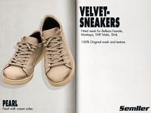 Semller Velvet Sneakers  PEARL