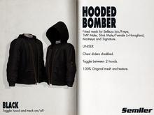 BLACK [SEMLLER HOODED BOMBER]