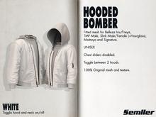 WHITE [SEMLLER HOODED BOMBER]