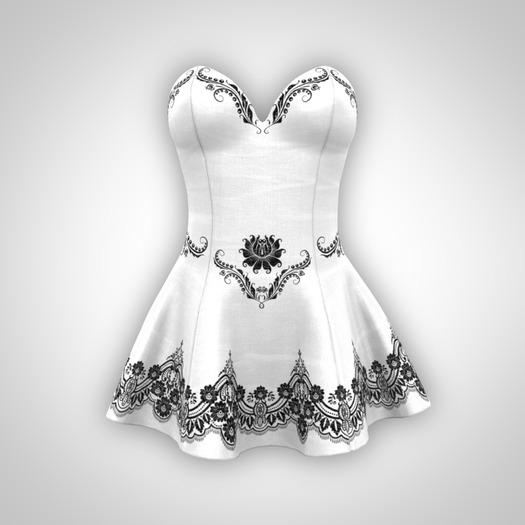 ANOIRCRE Sombre Dress White