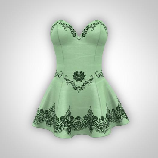 ANOIRCRE Sombre Dress LightGreen (Mesh)