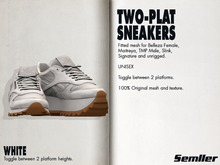 WHITE [Semller Two-Plat Sneakers]