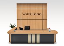 MODERN RECEPTION DESK SET - NOBEL - Office and Lobby Reception Furniture Set Center Copy/modif