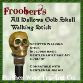 @DF@ Gold Skull Cane All Hallows M/C/NT