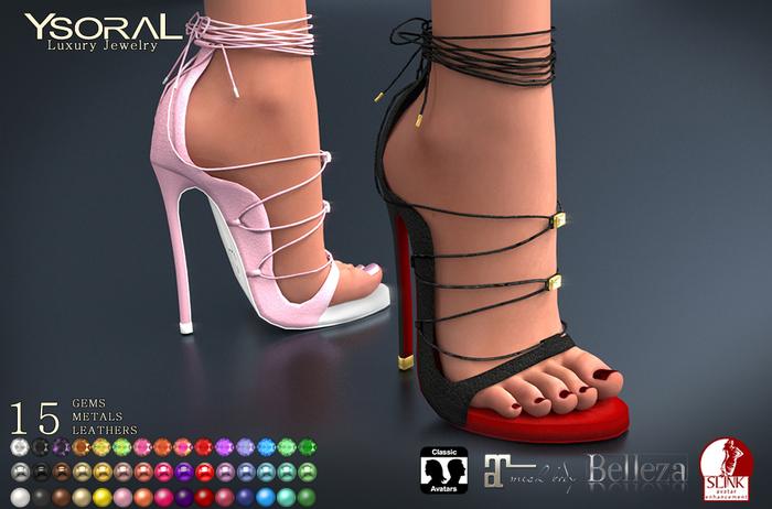 ~~ Ysoral ~~ .:Luxe Shoes Lili:. Maitreya. Belleza. Slink & Unrigged