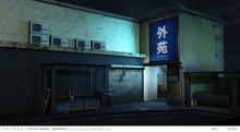 taikou / gaien market backdrop (boxed)